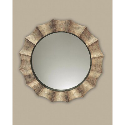 Uttermost Gotham Round Distressed Sunburst Wall Mirror