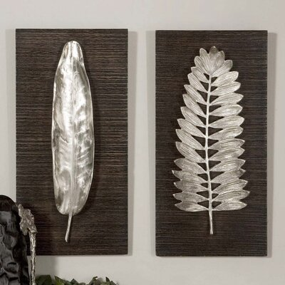 Uttermost 2 Piece Leaves Wall Décor Set by Billy Moon