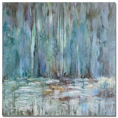 Uttermost Blue Waterfall Original Painting on Canvas