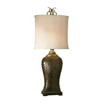 Uttermost Leather Weave Table Lamp