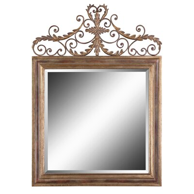 Valonia Beveled Mirror in Antiqued Gold Leaf