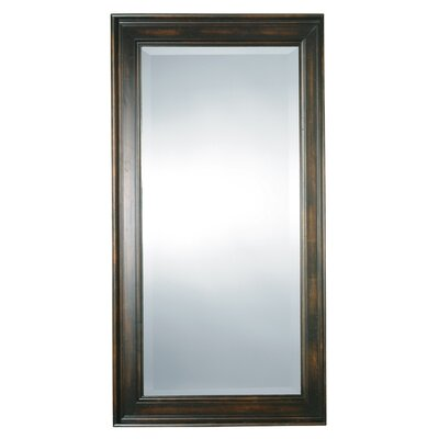 Palmer Rectangular Beveled Mirror in Distressed Black