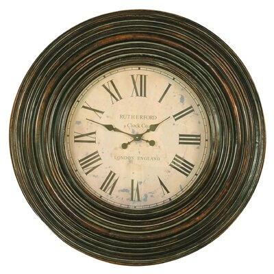 Trudy Wall Clock in Burnished Brown