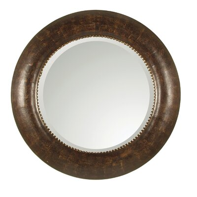 Leather Leonizio Beveled Mirror