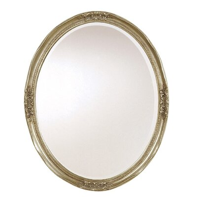 Uttermost Newport Oval Mirror in Silver Leaf