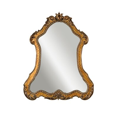 Cleopatra Mirror in Gold with Heavy Antiquing