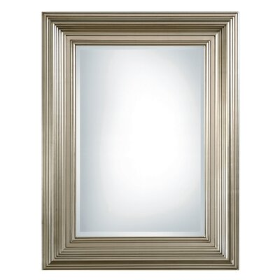 Mario Rectangular Beveled Mirror in Silver Leaf