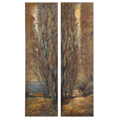Tree Panels by Feyock 2 Piece Original Painting Set
