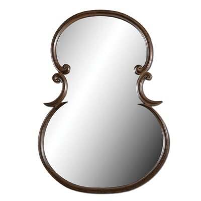 Uttermost Etienne Mirror in Distressed Woodtone