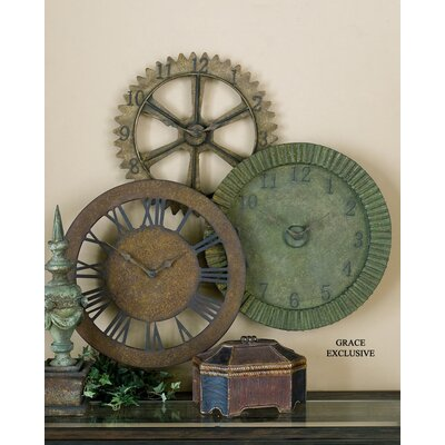 Uttermost Rusty Gears Clock