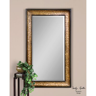 Capiz Mirror in Aged Black