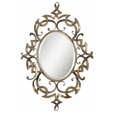 Ameno Mirror in Antique Golden Champagne Leaf