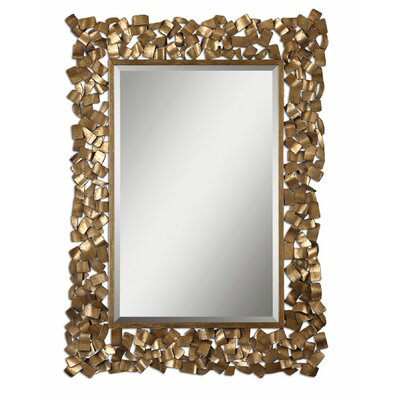 Capulin Mirror in Antique Golden Leaf