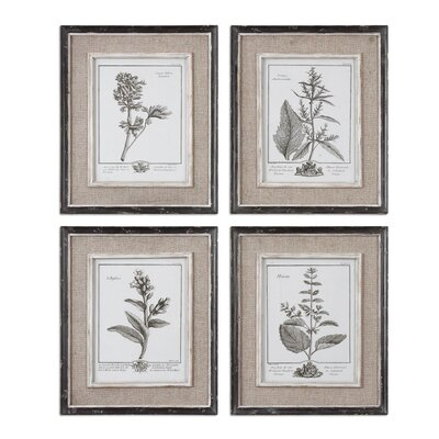 "Uttermost Casual Grey Study Wall Art By Grace Feyock - 17.5"" x 14.5"""