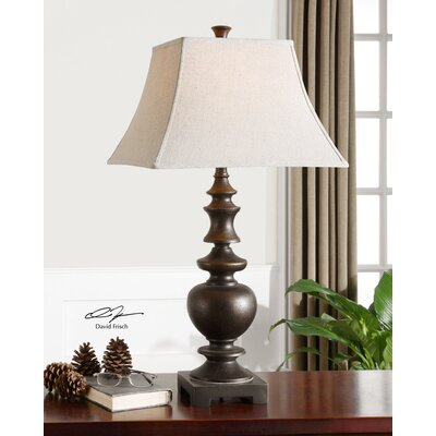 Uttermost Verrone Table Lamp in Lightly Distressed Textured Dark Bronze