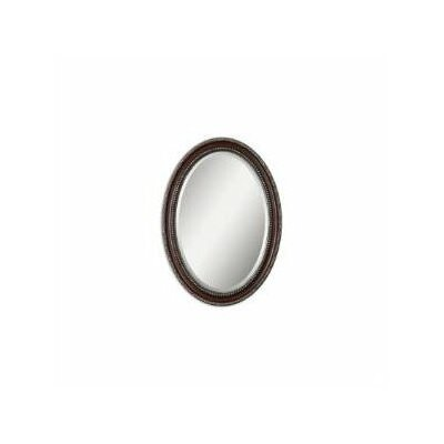 Montrose Oval Beveled Mirror in Distressed Dark Mahogany