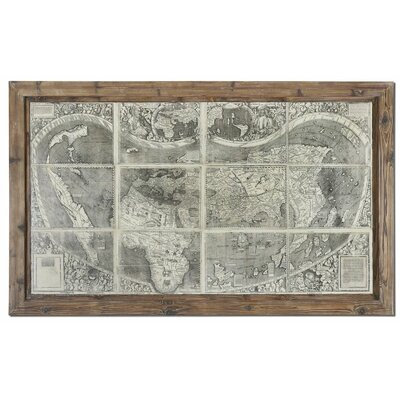 Treasure Map Framed Graphic Art