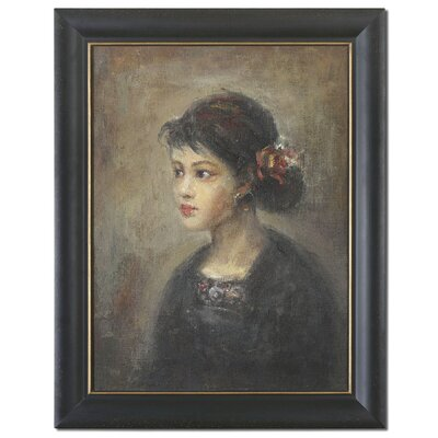 Young Serenity Girl Framed Original Painting