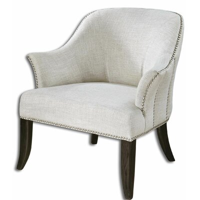 Uttermost Leisa White Arm Chair