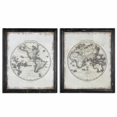 Global by Grace Feyock 2 Piece Framed Graphic Art Set
