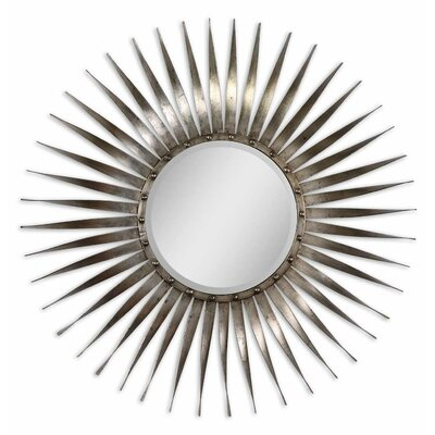 Sedona Beveled Mirror in Antiqued Silver Leaf