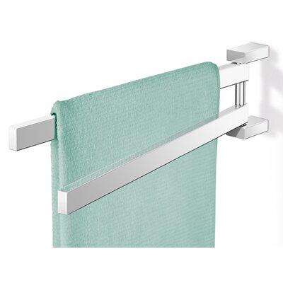 "ZACK Linea 17.52"" Wall Mounted Swivelling Towel bar"