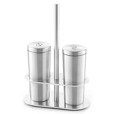 ZACK Oveta Cruet Salt and Pepper Shaker Set with Holder