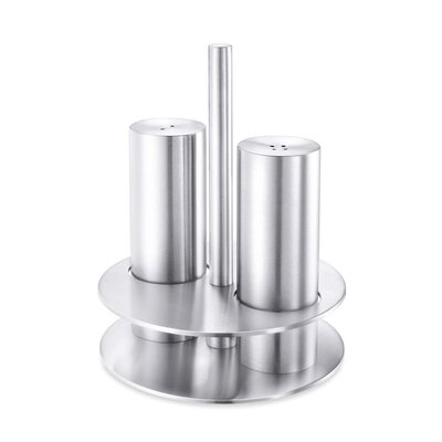 ZACK Vivace Salt and Pepper Shaker Set with Holder