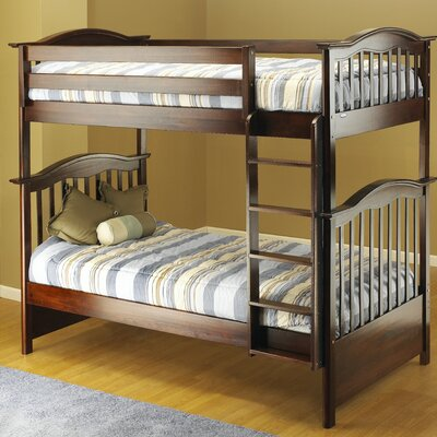 Orbelle Curved Twin Bunk Bed with Built-In Ladder & Reviews  Wayfair