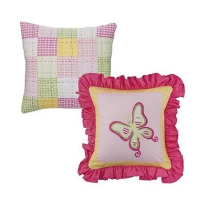 Bacati Girls Stripes and Plaids Set of Two Decorative Pillows