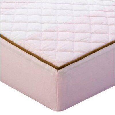 Bacati Metro Quilted Changing Pad Cover in Pink and Chocolate