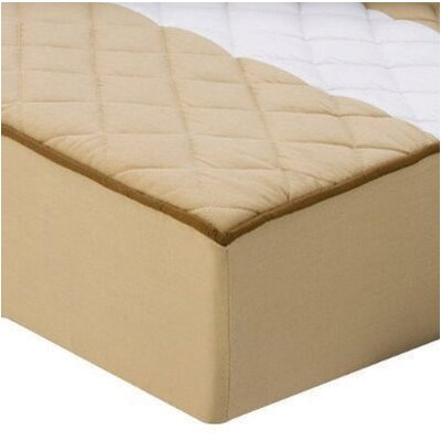 Bacati Metro Quilted Changing Pad Cover in Khaki and Chocolate
