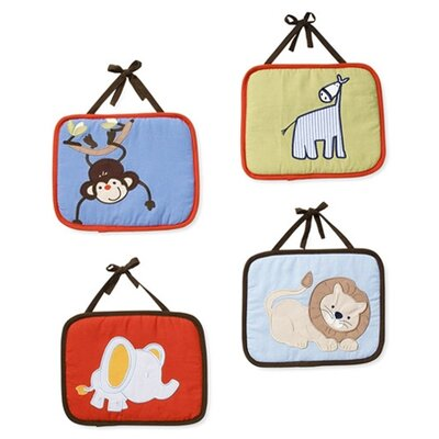 Bacati ABC123 - 4 Piece Wall Hangings in Multi