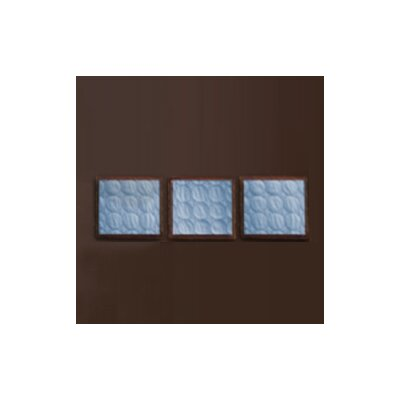 Bacati Quilted Circles Three Piece Wall Hangings in Blue and Chocolate