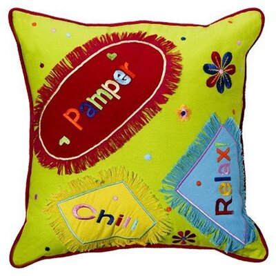 Bacati Sunshine Embroidered Decorative Pillow