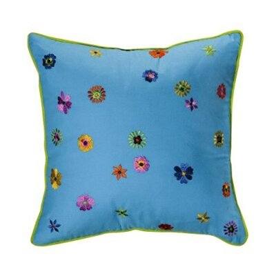 Bacati Valley of Flowers Decorative Pillow in Turquoise