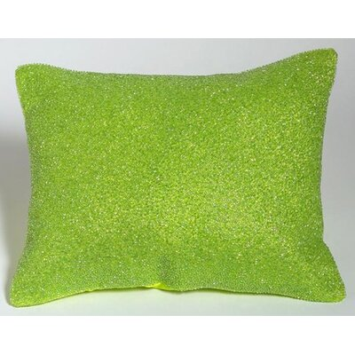 Bacati Valley of Flowers Beaded Pillow