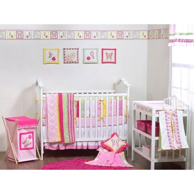 Girls Stripes and Plaids Crib Bedding Collection