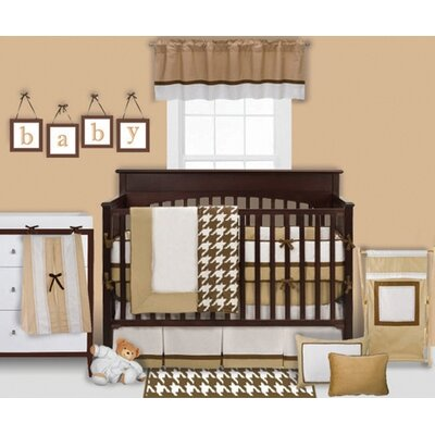 Bacati Metro Khaki, White and Chocolate Crib Bedding Collection