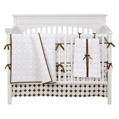 Bacati Quilted Circles 4 Piece Crib Bedding Collection