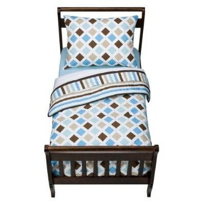 Bacati Mod Diamonds and Stripes 4 Piece Toddler Bedding Set