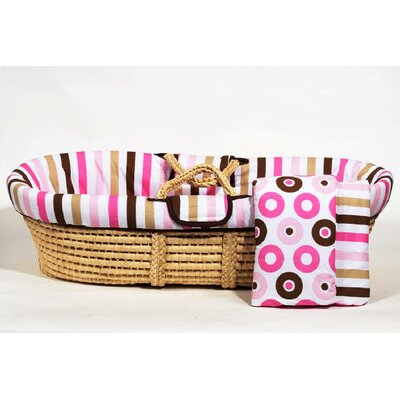 Bacati Mod Dots and Stripes Moses Basket