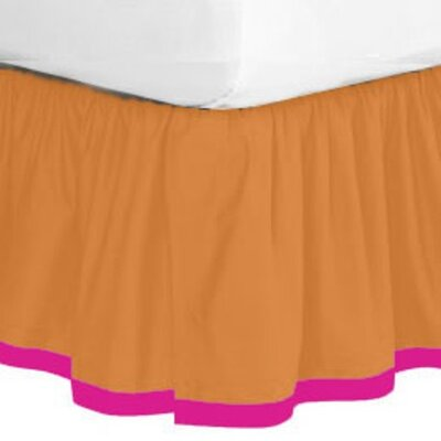 Bacati Tangerine Bed Skirt