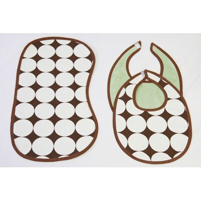 Bacati 3 Pc Bib & Burp Cloths Set