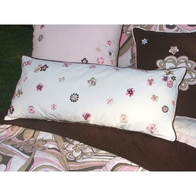 Bacati Retro Flowers Lumbar Pillow