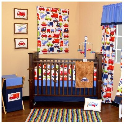 Bacati Transportation Crib Bedding Collection