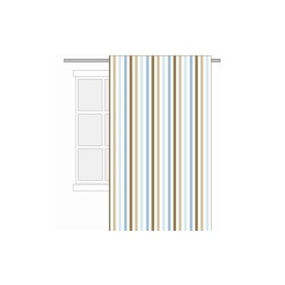 Bacati Mod Diamonds and Stripes Cotton Rod Pocket Curtain Single Panel