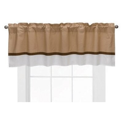 Bacati Metro Cotton Blend Rod Pocket Tailored Curtain Valance