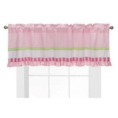 Bacati Girls Stripes and Plaids Cotton Blend Curtain Valance