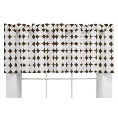 Bacati Quilted Circles Dot Cotton Blend Curtain Valance
